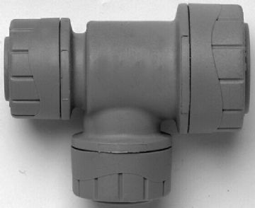 5 x Polyplumb 22-15-15mm end & branch reduced tees. Polypipe reducer. PB1522